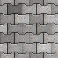 Paving slabs seamless tileable texture gray figured Royalty Free Stock Image