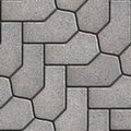 Paving slabs seamless tileable texture gray figured Stock Photography