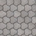 Paving slabs seamless tileable texture gray pavement in the trefoil form Royalty Free Stock Image