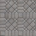 Paving slabs seamless tileable texture gray square and hexagon pavements decorative difficult styling Stock Photos