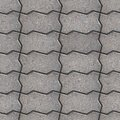 Paving slabs seamless tileable texture gray wavy Stock Photos