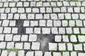 Paving stones broken Royalty Free Stock Photos