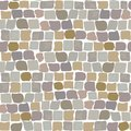 Paving Stones Road Texture seamless pattern. wall of stone, cobbled street Royalty Free Stock Photo