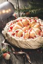 Pavlova, Christmas Cake Royalty Free Stock Photo