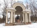 Pavlovsk. Rossi's pavilion in winter park Royalty Free Stock Photo