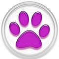 Paw button Stock Photo