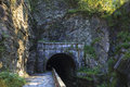 Paw paw tunnel northern entrance of the on the chesapeake and ohio canal Royalty Free Stock Photo
