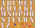 Paw Print Alphabet Letters Royalty Free Stock Images