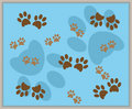 Paw Print Background Royalty Free Stock Photography