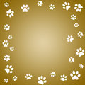 Paw print frame Royalty Free Stock Photo