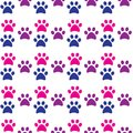 Paw print seamless. Traces of Cat and dog Textile Pattern.