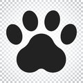 Paw print vector icon. Dog or cat pawprint illustration. Animal Royalty Free Stock Photo