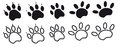 Paw prints. Royalty Free Stock Images