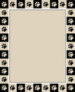 Paw prints border Royalty Free Stock Photo