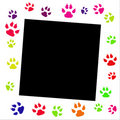 Paw prints border Stock Photography