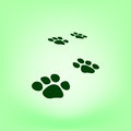 Paw prints icon