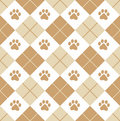 Paw prints seamless Royalty Free Stock Photos