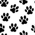 Paw seamless pattern background vector animal Foto de archivo libre de regalías