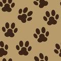Paw seamless pattern background vector animal Fotografía de archivo