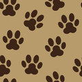 Paw seamless pattern background vetora animal Fotografia de Stock