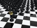 Pawn king Royalty Free Stock Photo