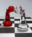 Pawns In Love Royalty Free Stock Photography