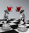 Pawns In Love Royalty Free Stock Photos