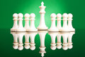 Pawns protecting  the white king Royalty Free Stock Photography