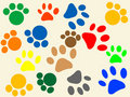 Paws pattern Royalty Free Stock Images