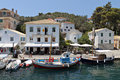 Paxos island in greece gaios port at ionian sea Stock Photography