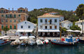 Paxos island in greece gaios port at ionian sea Stock Image