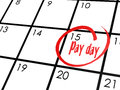 Pay day word on calendar Royalty Free Stock Photo