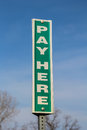 Pay Here Sign Royalty Free Stock Photo