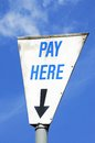 Pay Here sign. Royalty Free Stock Photo