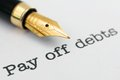 Pay off debts close up of Royalty Free Stock Photography