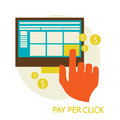 Pay per click concept vector illustration eps Royalty Free Stock Images
