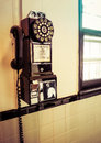 Pay phone old fashioned Stock Images