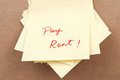 Pay rent words Royalty Free Stock Photo