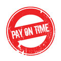 Pay On Time rubber stamp Royalty Free Stock Photo