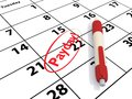 Payday due date Royalty Free Stock Photo