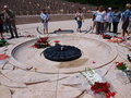 Paying homage, Monte Cassino, Italy Royalty Free Stock Photo