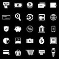 Payment icons on black background