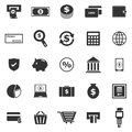 Payment icons on white background