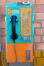 Payphone on the wall Stock Image