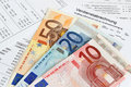 Payroll with banknotes german euro Royalty Free Stock Photography