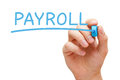 Payroll Blue Marker Royalty Free Stock Photo