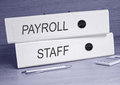 Payroll and staff Royalty Free Stock Photo
