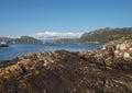 Paysage carron de loch montagnes de l ecosse Photos libres de droits