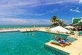 Paysage de piscine à la princesse resort et station thermale d andaman Image libre de droits