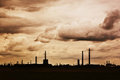 Paysage industriel dramatique Photos stock